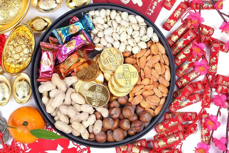 ของแต่งบ้านเก๋ๆ เทศกาลตรุษจีน กล่องขนมขบเคี้ยวแปดช่อง
