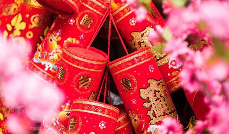 ของแต่งบ้านเก๋ๆ เทศกาลตรุษจีน ประทัดแดง